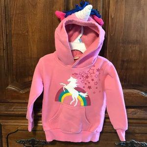 Doodle Pants Unicorn hoodie pink 3T